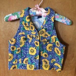 Vintage Sunflower Vest